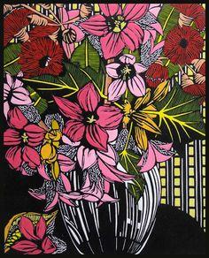 Lacebark and Flowering Gum by Gail Kellett, 40cm w x 58cm h
