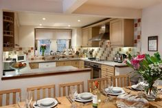 Luxury Holiday Cottages in Peak District, Cheshire, Derbyshire & Staffs, Hopton Hall Luxury Holiday Cottages, Peak District, Luxury Holidays, Derbyshire, Table Settings, Kitchen, Furniture, Home Decor, Cooking
