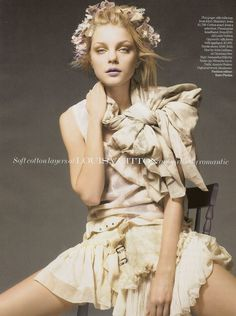 Jessica Stam by Liz Collins for Vogue UK February 2007