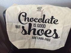 Vrouwenhumor! #chocolade #schoenen #lowcarb