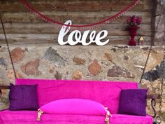 love letters for wedding decorations made by www. Big Letters, Bed Pillows, Pillow Cases, Wedding Decorations, Pillows, Wedding Decor, Large Letters