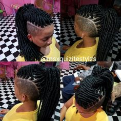 Shaved Side Hairstyles, Faux Locs Hairstyles, African Braids Hairstyles, Twist Hairstyles, Tapered Natural Hair, Natural Hair Styles, Short Hair Styles, Natural Mohawk, Mohawk Styles