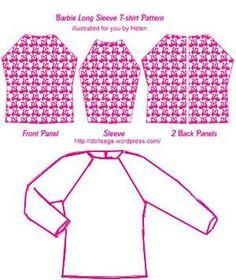 DIY –T Shirt Pattern For Barbie « Helen's Doll Saga