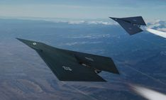 ArtStation - Between-class demo, based on a design by Corey Gooch, Alex Jay Brady Stealth Aircraft, Fighter Aircraft, Military Aircraft, Fighter Jets, Spaceship Concept, Concept Ships, F22 Raptor, Experimental Aircraft, Air Space