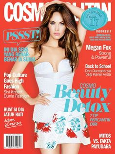 "Megan Fox graces the cover of #CosmoIndonesia October 2014 issue looking slim, sultry and feminine in florals. Inside, the ""Teenage Mutant Ninja Turtles"" actress gave advice to women about sexuality and which famous celebrity she finds sexy. Grab it while it's hot! #CosmoOct2014"