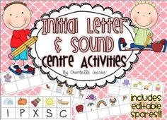 Initial Letter and Sound Phonics Pack. Children record the initial letter - reusable! Great for literacy centres or Guided Reading Activities.