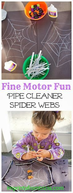 Fine Motor Fun: Pipe Cleaner Spider Web.