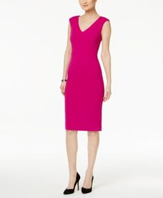 Own the office in this career-chic sheath from Ivanka Trump, featuring a built-in control panel to ensure a sleek and supportive fit. | Shell: polyester/spandex; lining: nylon/spandex | Dry clean | Im