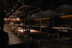 "Gallery of Meat Restaurant ""Sazha"" / YOD design lab – 10 - Küche Pop Design, Design Lab, Cafe Design, Design Concepts, Graphic Design, Bar Interior, Restaurant Interior Design, Interior Office, Interior Sketch"