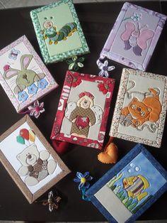 Cadernos em patchwork embutido