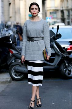 In the Street...Helena e Lise...Obsessed by stripes and dots