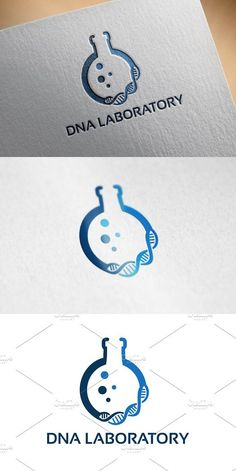 DNA Laboratory Logo designs Template. Logo Templates