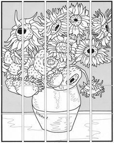 Van Gogh Sunflower Mural · Art Projects for Kids - Kunstunterricht Collaborative Art Projects For Kids, Group Art Projects, School Art Projects, Art School, Art Van, Desenhos Van Gogh, Van Gogh For Kids, Van Gogh Arte, Van Gogh Sunflowers