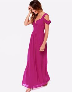 Elegant dress fantasies become realities with the Dreamed to Life Magenta Maxi Dress with an off-the-shoulder look and padded bodice look in a soft chiffon. Magenta Bridesmaid Dresses, Bohemian Bridesmaid, Bridesmaids, Cheap Dresses, Casual Dresses For Women, Best Evening Dresses, Chiffon Maxi Dress, Dress Prom, Dress Wedding