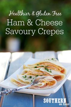 Kristy creates a healthier version of a classic recipe with these Healthy Ham & Cheese Crepes! They're low fat, gluten free and absolutely delicious!