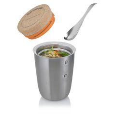 Thermobehälter für Essen - Thermo-Pot für warme Suppen & Getränke... Der Thermo Pot Thermosbecher im Überblick: auslaufsicher,BPA-frei,10 Jahre Garantie auf die Isolierung,Volumen: 500 ml inklusive Löffel aus Edelstahl, Lieferung im ungebleichten Karton