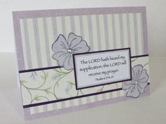 The Lord Heard My Prayer Handmade Christian Praying For You Card With Scripture by stufffromtrees on Etsy