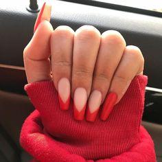 gel nails with tips & tips gel nails . tips gel nails at home . tips gel nails colored . tips gel nails ideas . gel nails with tips . gel nails ideas spring french tips . diy gel nails at home tips . wedding nails for bride gel french tips Polygel Nails, Nail Manicure, Cute Nails, Pretty Nails, Nail Polish, Coffin Nails, Toenails, French Nail Designs, Bling Nails