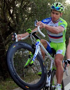Peter Sagan.  He properly doesn't hide his love of cycling