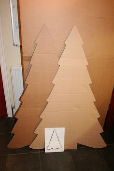 Cardboard Christmas Tree -