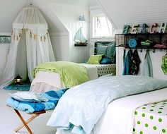 beach theme room for girls | My girls space | Pinterest