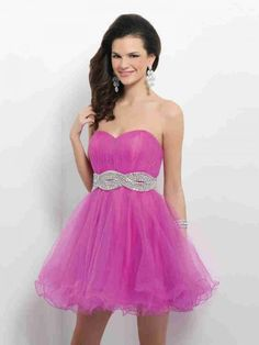 Princess Sweetheart Short Pink Cocktail/Homecoming Dress Cbp0057 - Wishesbridal.com