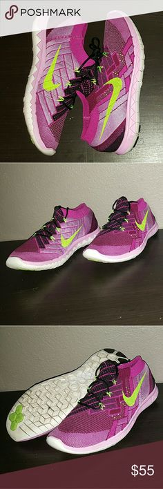 Women's Nike Free Run Flyknit 3.0 Women's Nike Free Run Flyknit 3.0 size 10 good condition Nike Shoes Athletic Shoes