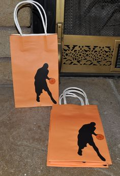 basketball silhouette goody bags