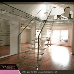 Extravega design edition n. 129 #glassstair #customized #privateclients #metal&glass #saronno #italy #architecturalfabrications # extravega.com