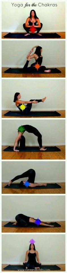 Yoga poses to open chakras..