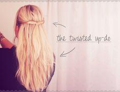 Hairspiration // Hverdags-frisure med et twist..