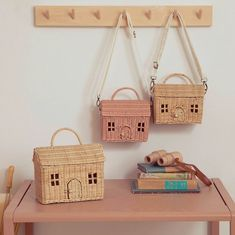 A little house-shaped bag for kiddos on the go! Smaller and more compact than the Casa Clutch, the Casa Bag comes complete with a removable and adjustable fabric strap making it the toy accessory for every adventure. Cheap Storage, Storage Boxes, Storage Baskets, Apple Baskets, Book Baskets, Plastic Hinges, Classic Rugs, Vintage Storage, Nordic Style