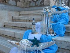 ΣΤΟΛΙΣΜΟΣ ΒΑΠΤΙΣΗΣ ΕΚΚΛΗΣΙΑΣ ΓΙΑ ΑΓΟΡΙ - ΝΑΥΤΙΚΟΣ - ΤΟΥΜΠΑ- ΚΩΔ.: THA445 Baptism Decorations, Backdrops For Parties, Wedding Wishes, Christening, Centerpieces, Projects To Try, Baby Shower, Birthday, Beach