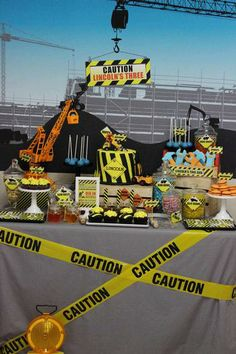 Hostess with the Mostess® - Construction themed 3rd birthday party
