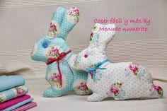"""El blog de """"Coser fácil y más by Menudo numerito"""": Cómo hacer un conejo de trapo"""