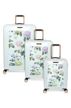 Ted Baker London 'Small Rose' Hard Shell Suitcase (22 Inch)