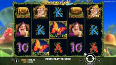Dwarven Gold fairytale slots with pots of gold and butterflys.  Spin and win on this fairytale pokies game from Pragmatic Play!