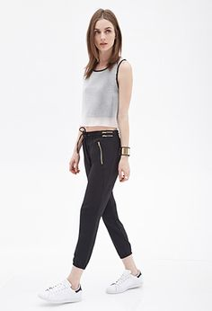 Zippered Woven Joggers | FOREVER 21 - 2000100761