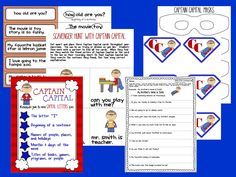 Let Captain Capital teach your kids how to follow capitalization rules with this capitals packet. $