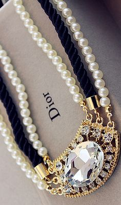 Dior diamond necklace