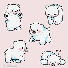 Cute polar bear drawing breakfast at a cute bear drawings cool drawings doodles cute polar bear Cute Bear Drawings, Cute Animal Drawings Kawaii, Kawaii Drawings, Kawaii Art, Polar Bear Drawing, Polar Bear Tattoo, Cute Polar Bear, Cute Bears, Polar Bears