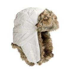 Jacob Ash Attakid Quilted Aviator Hat - Faux Fur (For Kids)