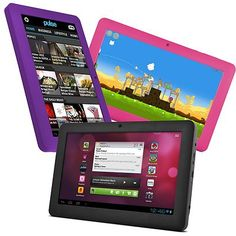 """Ematic 7"""" Pro Series Google Android 4.0 Capacitive Multi-Touch Tablet 4GB w/ WiFi.   My Tot loves this Tablet and you can't beat the $55 price.  It's refurbished but brand new it is valued at over $200.  Available on E-Bay."""