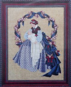 lavender and lace cross stitch | ... Lavender & Lace SWEET DREAMS Told In A Garden - Counted Cross Stitch