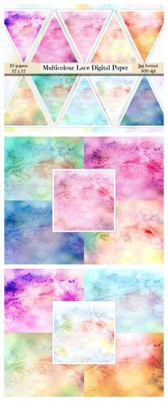 Pastel Galaxy Digital Paper Galaxy Scrapbook Paper Pastel By Ttlgc