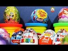 Some Cool Stuff!Sponge Bob egg Kinder Surprise Santa and Bunny Kinder Joy and a Ball - YouTube