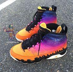 1, 2, 3, 4, or 5? Last ones are  Follow @fitsfleet...-#jordans Air Jordan 9, Jordan Swag, Jordan Shoes Girls, Girls Shoes, Basket Sneakers, Shoes Sneakers, Custom Sneakers, Custom Shoes, Sneakers Fashion