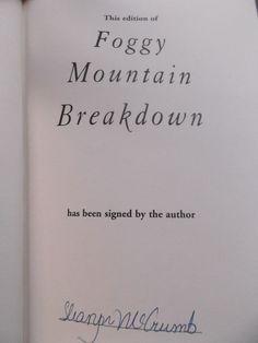 Sharon McCrumb ~ Foggy Mountain Breakdown ~ Signed! ~ 1st/1st ~ HC/DJ ~ 1997