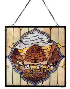 nauvoo beehive stained glass mormon art bee hive deseret temple house