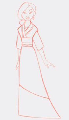 Mulan - Concept Art - Disney. Gosh she's a pretty thing aint she? beautiful art!